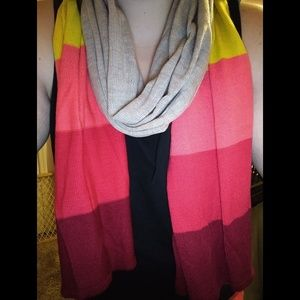 Pink & Yellow Scarf
